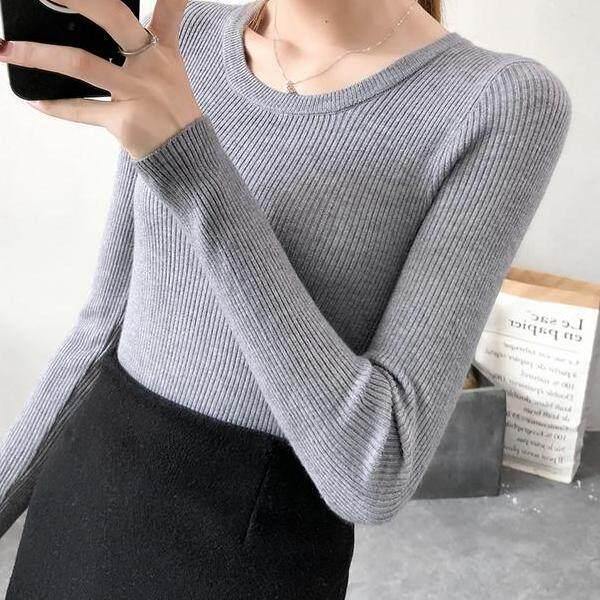 JYS Fashion Korean Style Women Knit Top Collection 526-6574col525a-6574--Grey- One size