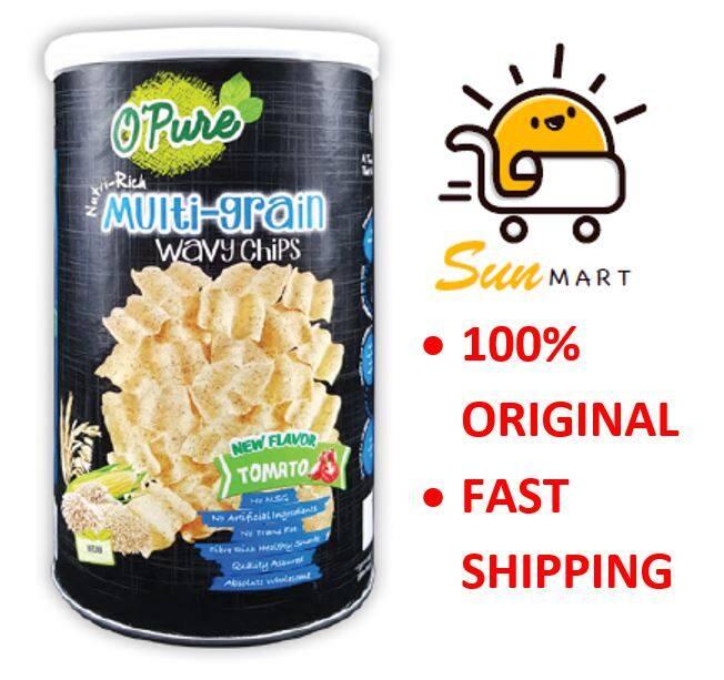 O Pure Chips TOMATO Multi Grain Wavy 番茄多谷粮脆片 80g