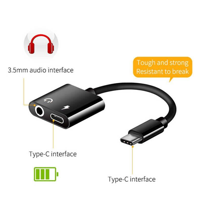 USB Type C Audio Adapter Type-C to 3.5mm Jack Earphone Audio Converter Cable for Samsung S8 Huawei mate 9 LG G5 G6 Xiaomi 6