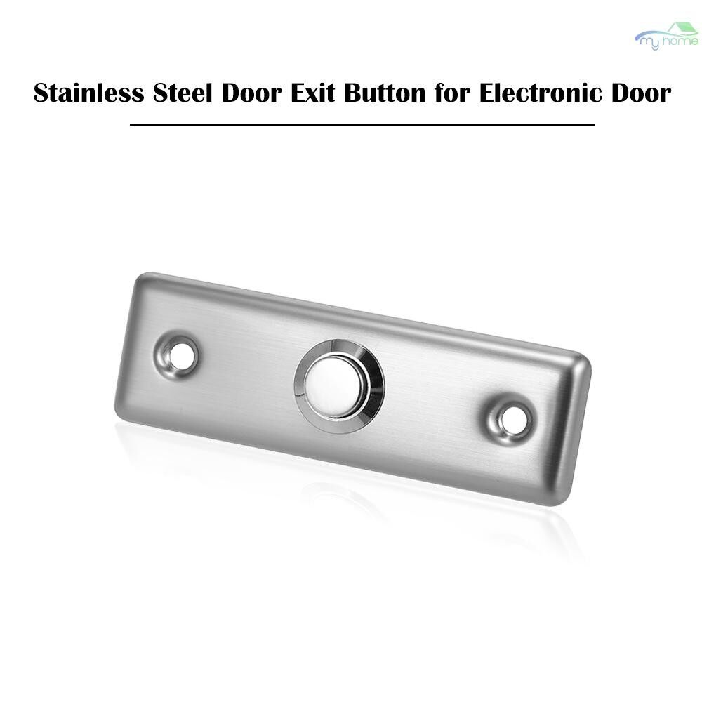Sensors & Alarms - Stainless Steel Door Exit Button Electronic Door Lock NO COM Push Release Exit Wall Switch Lock - SILVER