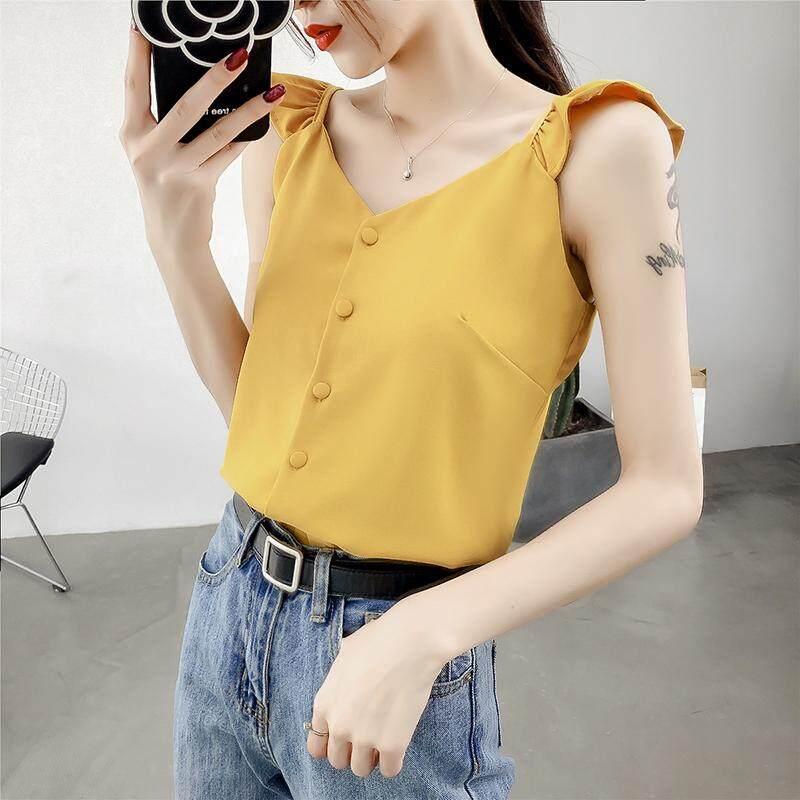 (Pre Order14 Days JYS Fashion Korean Style Women Chiffon top Collection 521- 8034col521-8034--Yellow -S