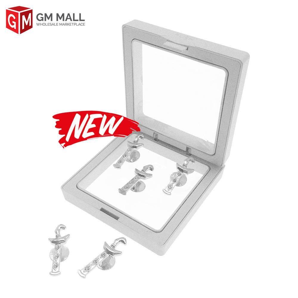 GM Mall Butang Baju Melayu Dewasa Adult - Kris Diamond - Silver (5 pcs)