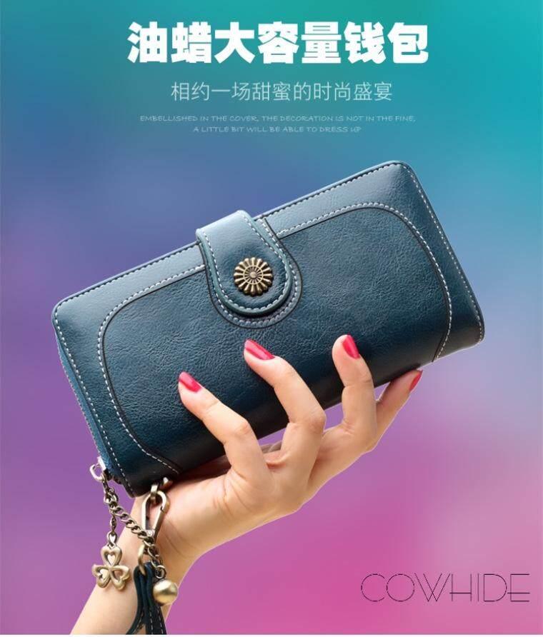 Korean Wallet Women Long Purses Pu Leather Card Holder Zipper Short Coin Wallet