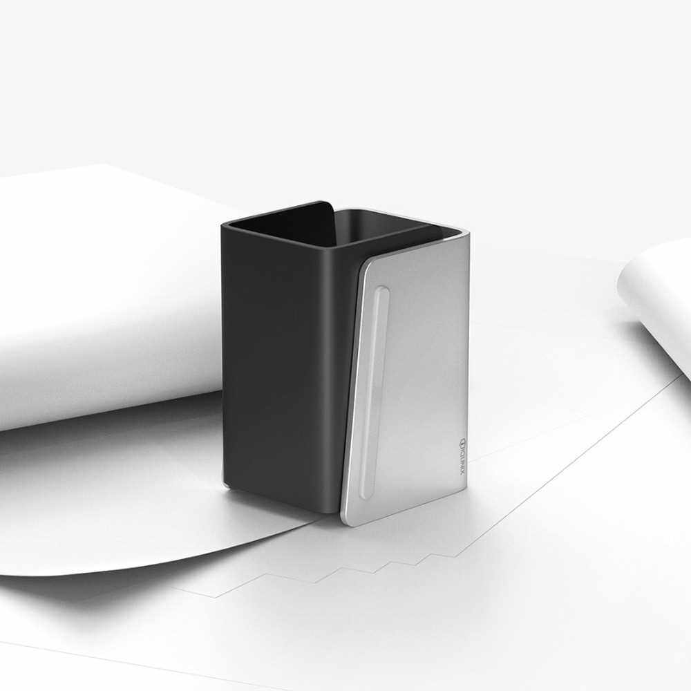 Xiaomi Mijia IQUNIX Zelo Aluminum Alloy Pen Holder Splicing Design Simple Aesthetics Large Capacity Storage Office Equipment (Silver)
