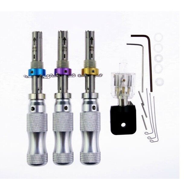 Cool Gadgets - 3 PIECE(s) Tubular 7 Pins Lock Pick Tools with Transparent 7 Pin TubularDB - Mobile & Accessories