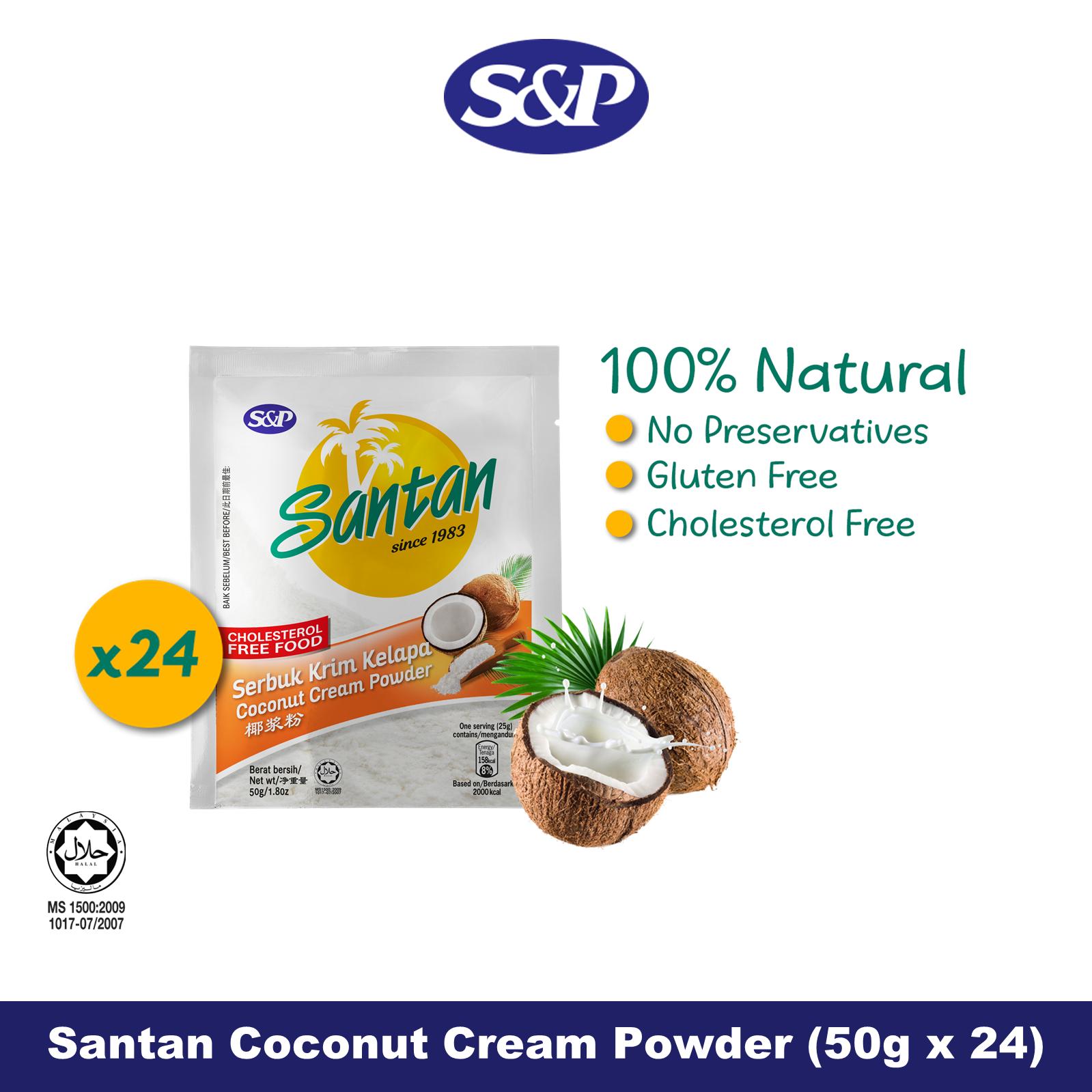 S&P Santan Coconut Cream Powder Serbuk Santan Kelapa (50g x24)