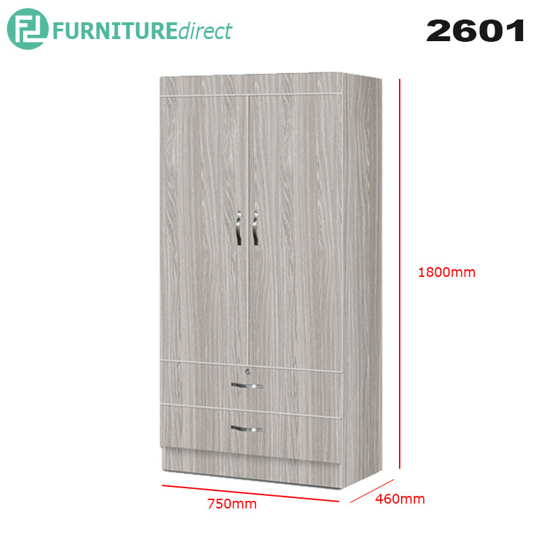 2 Door 2 Drawer wardrobe 2601
