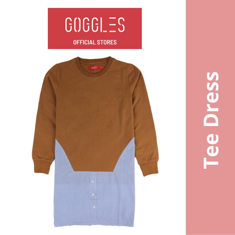 GOGGLES Ladies Long Sleeve T Shirt Dress 120608