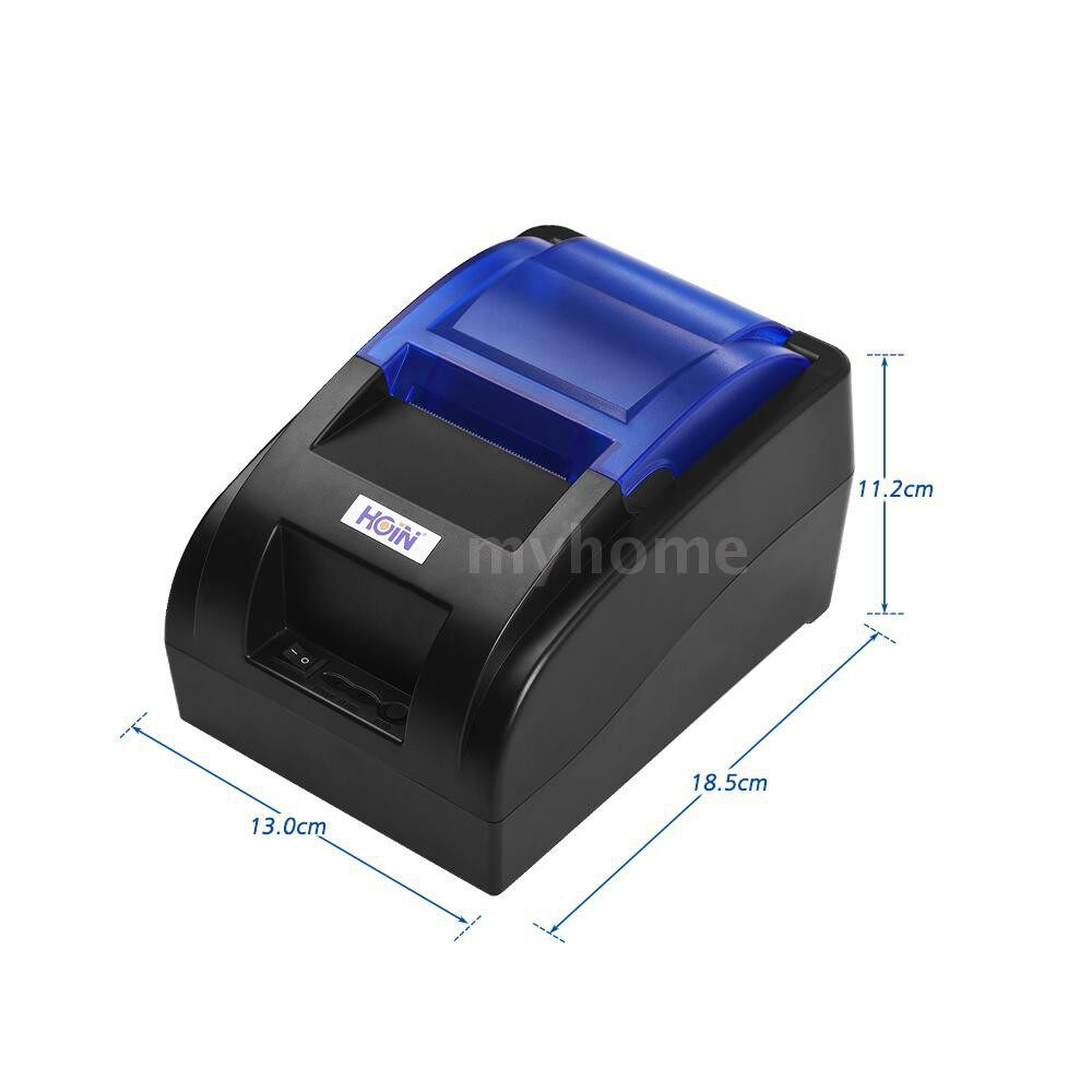 Printers & Projectors - HOIN USB PORTABLE 58mm Thermal Receipt Printer Ticket Bill Wired Printing Support Cash Drawer - Computer & Accessories