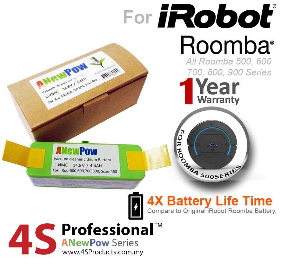 iRobot Roomba Lithium Battery Replacement for Model 500, 600, 700, Scooba 450 High Capacity 4400mAH