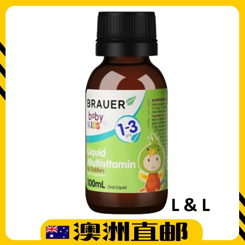 [Pre Order] Brauer Baby & Kids Toddler Liquid Multivitamin ( 100ml ) (Made In Australia)