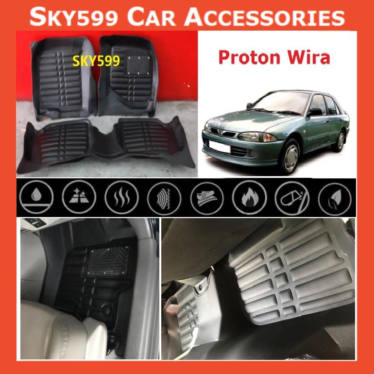 Proton Wira 5D Car Floor Mat/Carpet