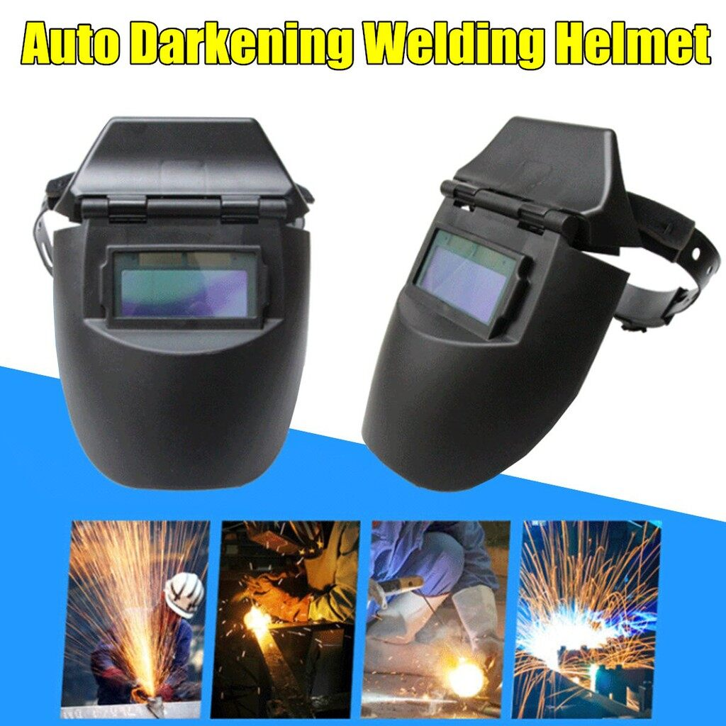 Moto Helmets - Auto Darkening Anti-glare Welder Helmet Shield Arc Welding Mask Solar Powered - Motorcycles, Parts & Accessories