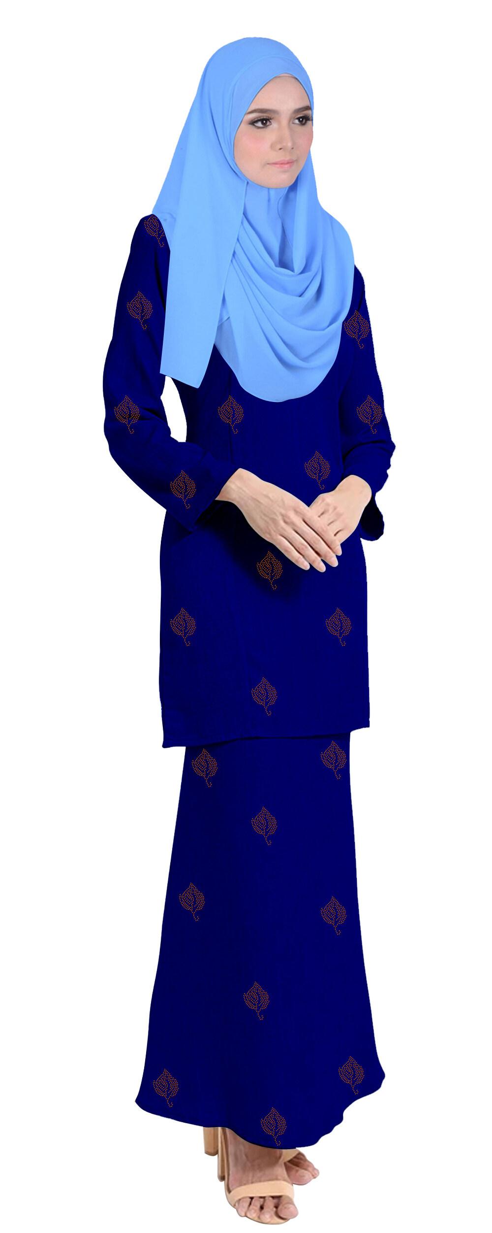 Baju Kurung Tahara For Muslimah Fashoin -Tahara-Navy Blue