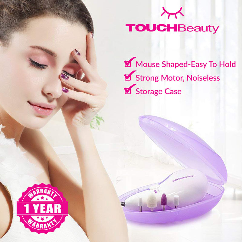 TOUCHBeauty Electric Manicure set TB-0602A 5 in 1 Electric Manicure/Pedicure Safe Manicure Kits Nail Trimmer Pedicure & Manicure / Nail Clipper(Come with 5 professional replaceable attachments)