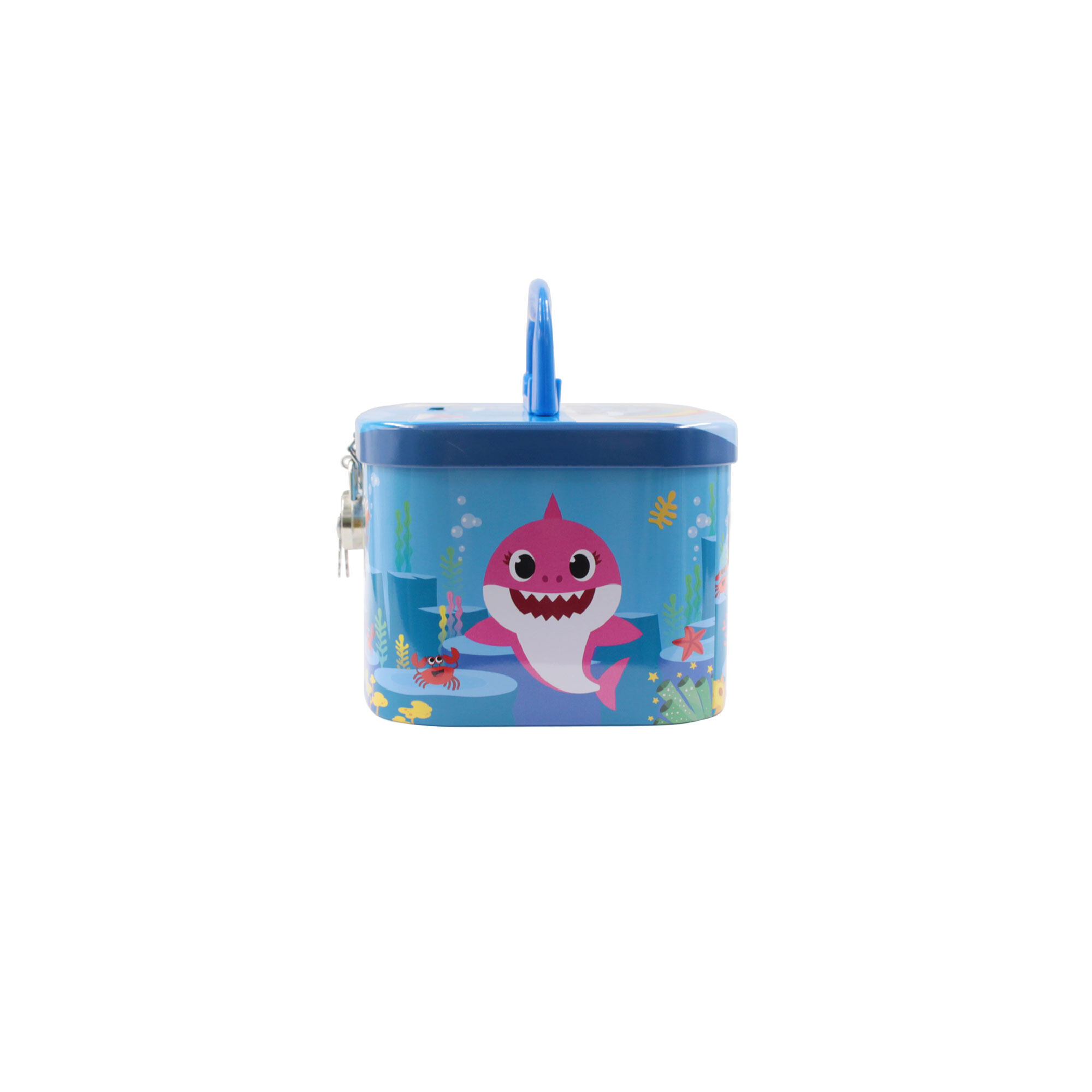 Pinkfong Baby Shark Children Coin Bank With Lock