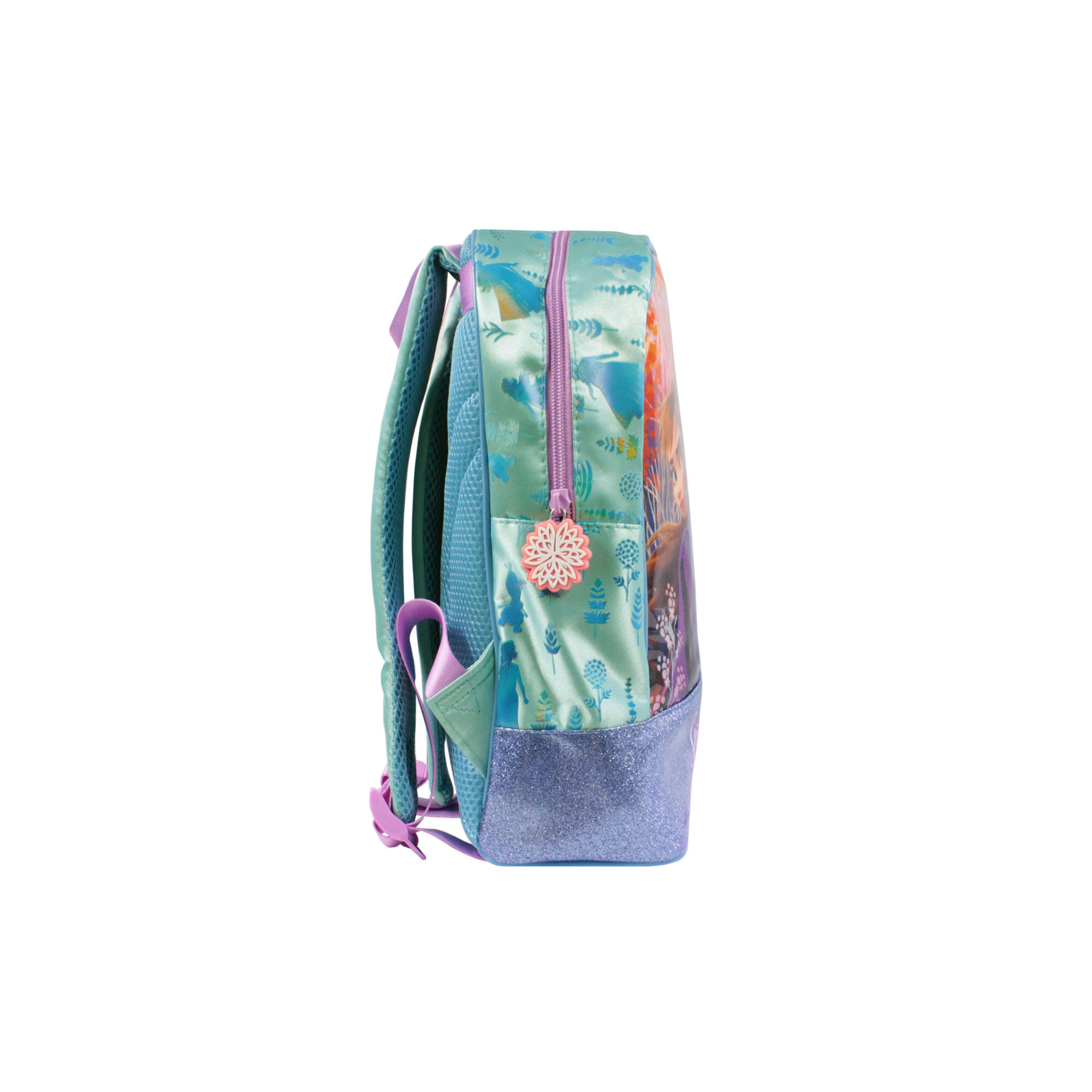 """[9.9] Disney Princess Frozen 2 Princess Elsa & Anna Nature Is Magical Girls 12 Inch Nylon School Backpack (Purple & Turqoise)"""