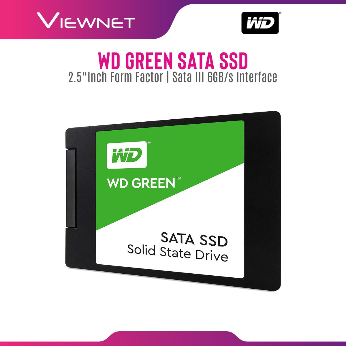 Western Digital SATA Green 120GB / 240GB / 480GB SSD Solid State Drives (WDS120G2G0A / WDS240G2G0A / WDS480G2G0A)
