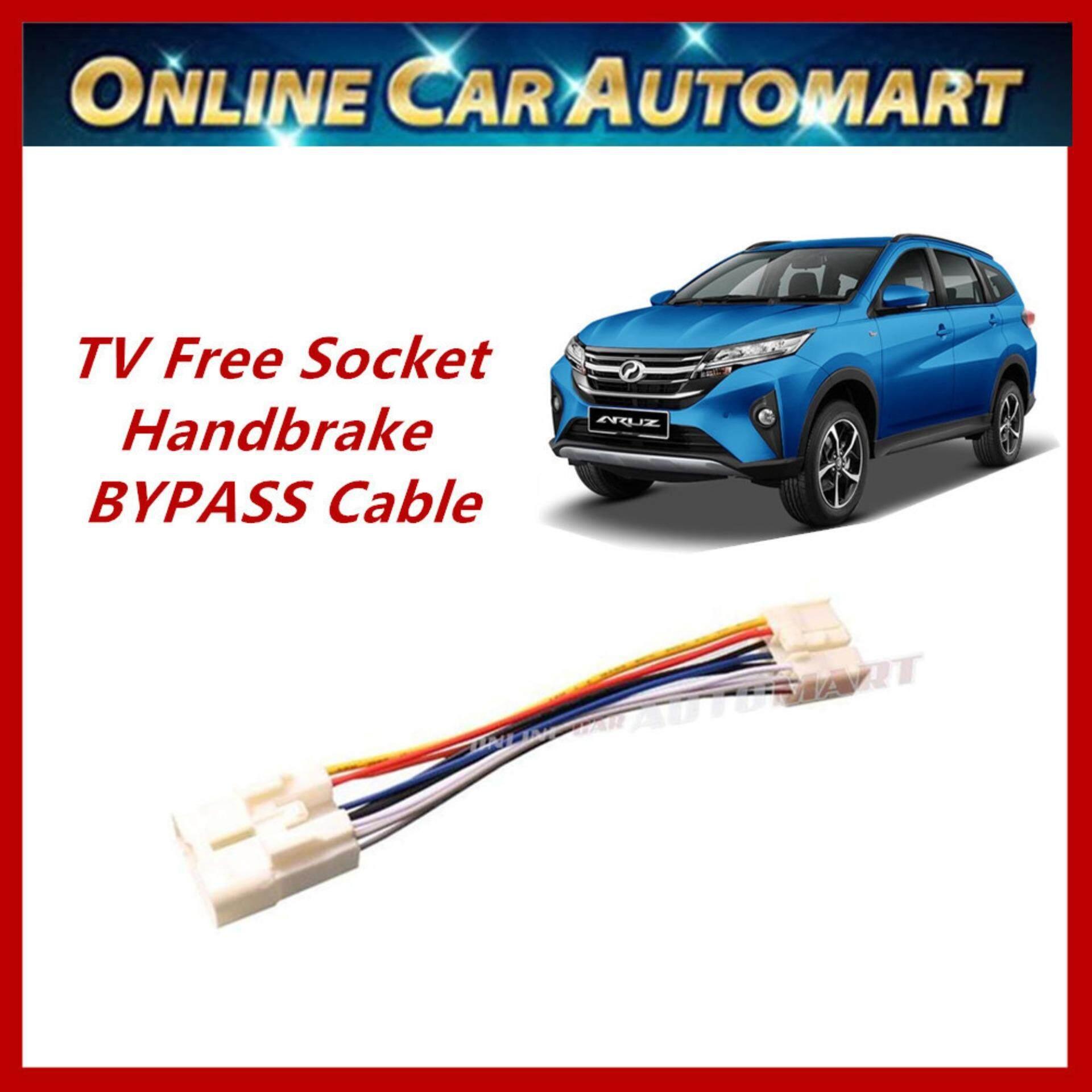 Perodua Aruz Plug n Play handbrake ByPass Car DVD Video While Driving In Motion (TV Free Socket)
