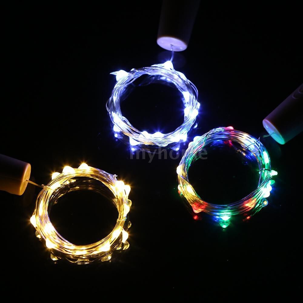 Lighting - 4.5V 1.2W 2Meters 20 LED Copper Wire Fairy String Light 12 Pack Multi-color Twistable Bendable - MULTICOLOR-12 PACK / WARM WHITE-12 PACK / WHITE-12 PACK / MULTICOLOR-10 PACK / WARM WHITE-10 PACK / WHITE-10 PACK / MULTICOLOR-6 PACK / WARM W