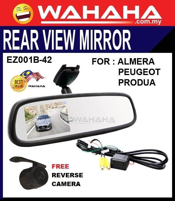 "EZ001B-42 4.3"" Rear View Mirror With Reverse Camera Ready Display FREE CMOS REVERSE CAMERA"