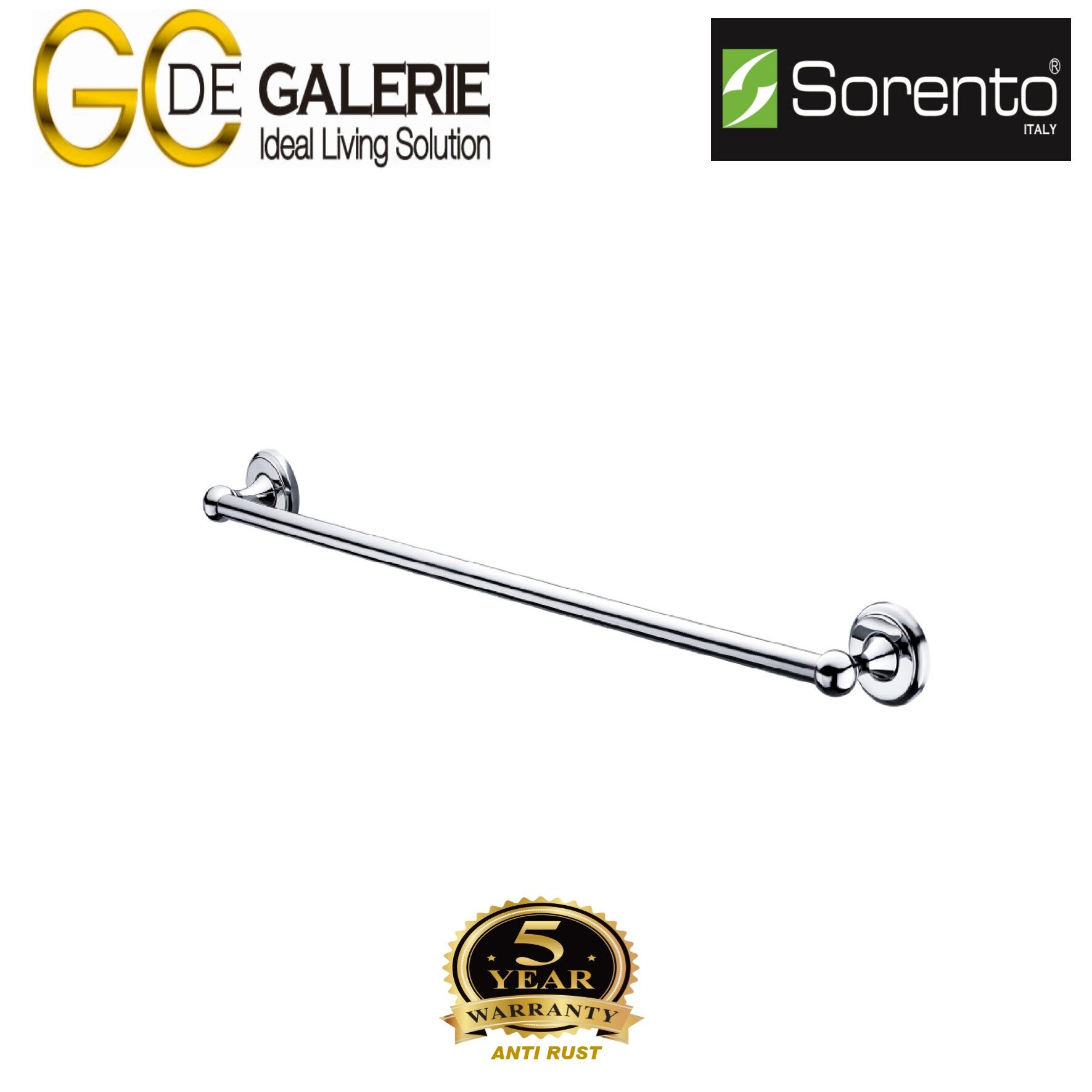 Sorento SRT7908-30 Bathroom/ Toilet Stainless Steel 304  Single Towel Bar