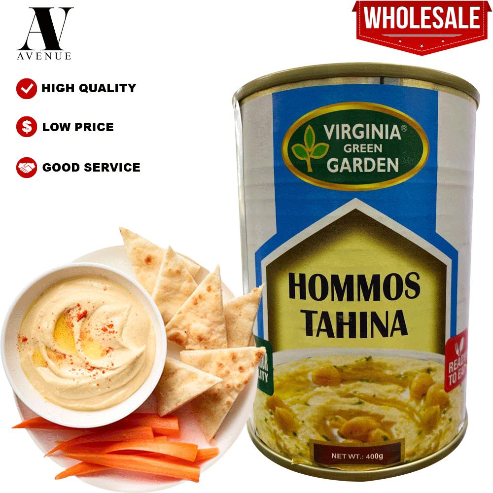 Virginia Green Garden Hommos Tahina Hummus Tahini 400g حمص طحينة