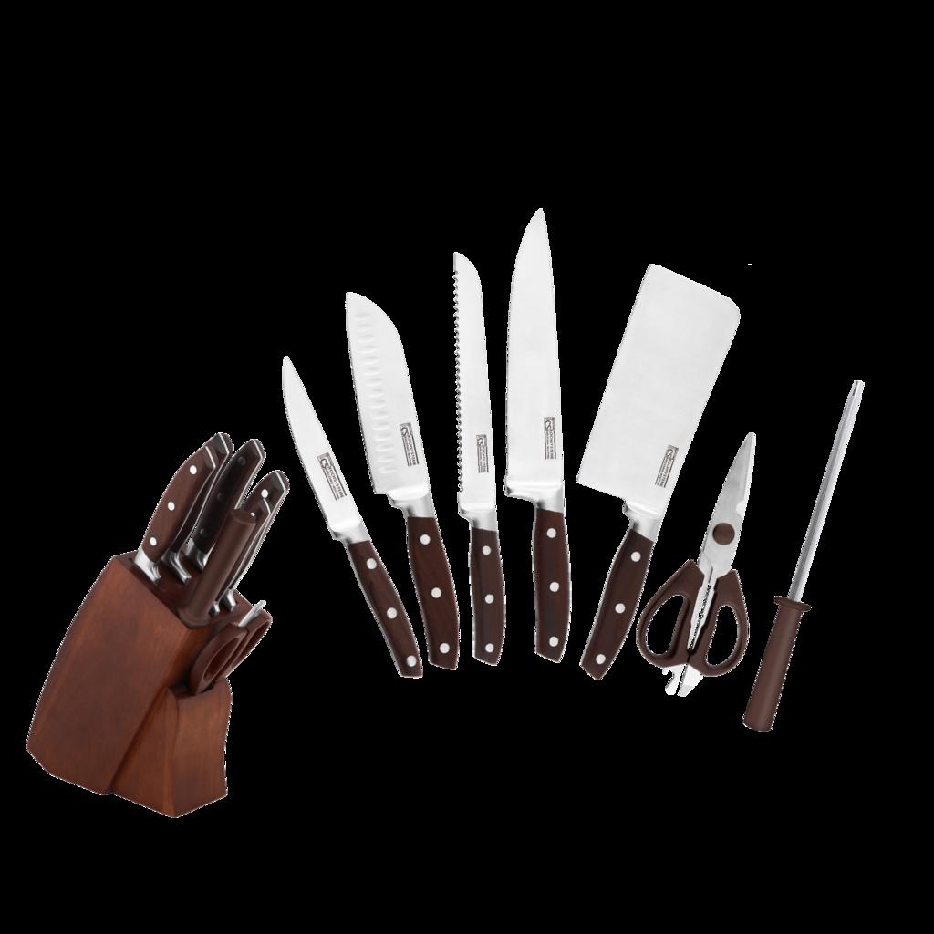 [My Cooking Story / MyCookingStory] SOLTAU 8pcs KNIFE BLOCK SET