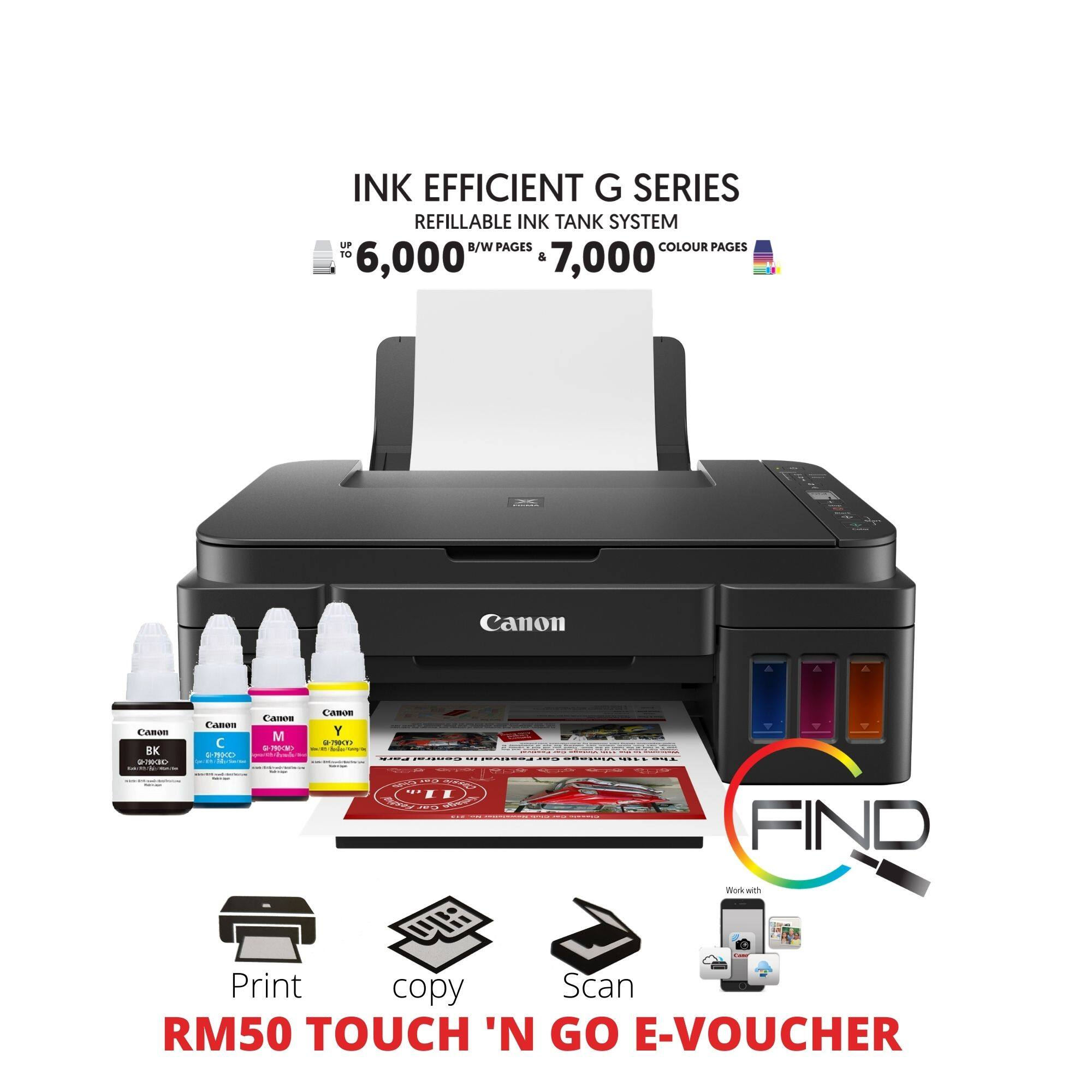 CANON PIXMA G3010 AIO ALL IN ONE (PRINT/SCAN/COPY) REFILLABLE INK TANK SYSTEM WIFI PRINTER (NOT SUPPORT MAC PC)