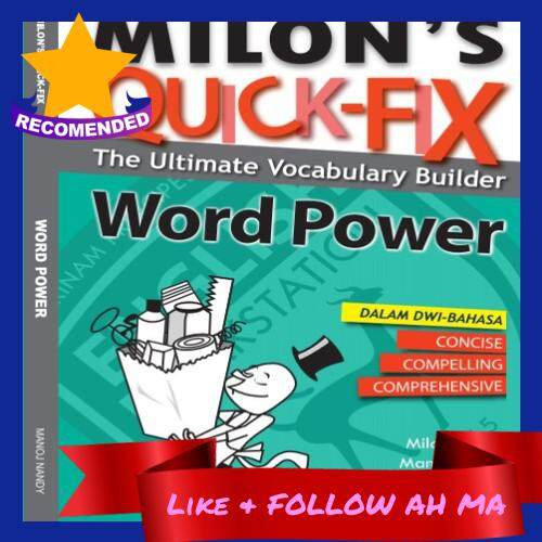 Best Selling Milon's Quick-Fix: Word Power Dual Language Dwi-Bahasa Improve English Vocabulary (Ready Stock)