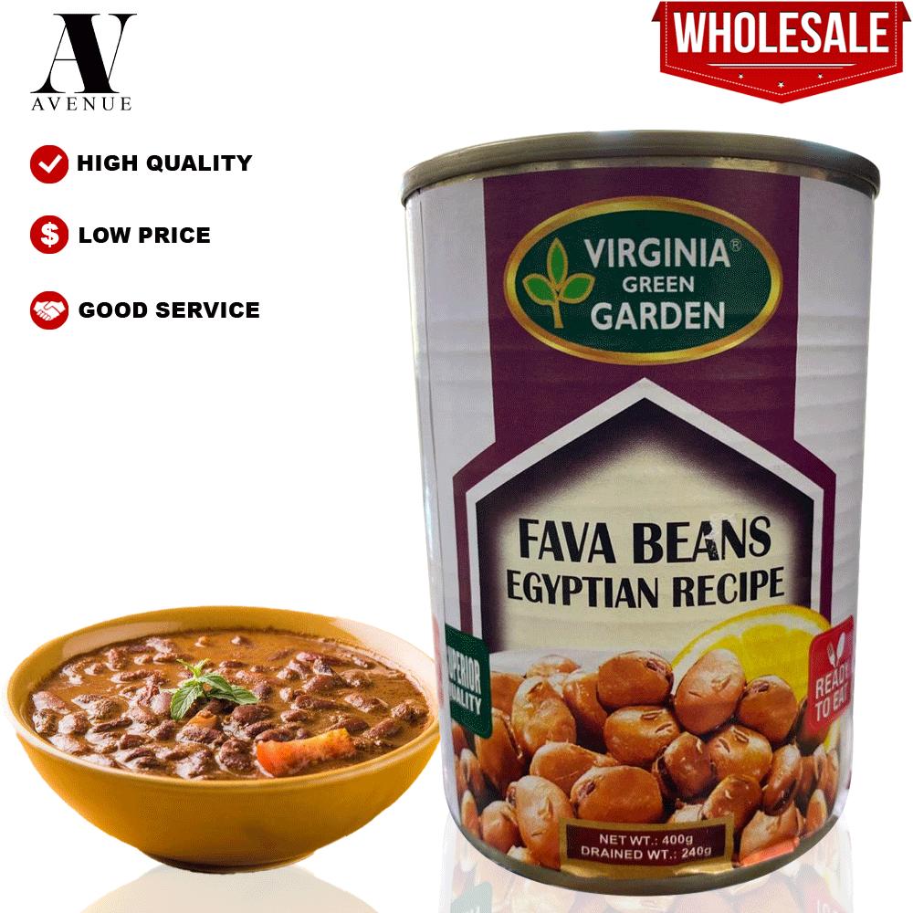 Virginia Green Garden Foul Medames Egyptian Recipe - Fava Beans 400g فول مدمس مصري