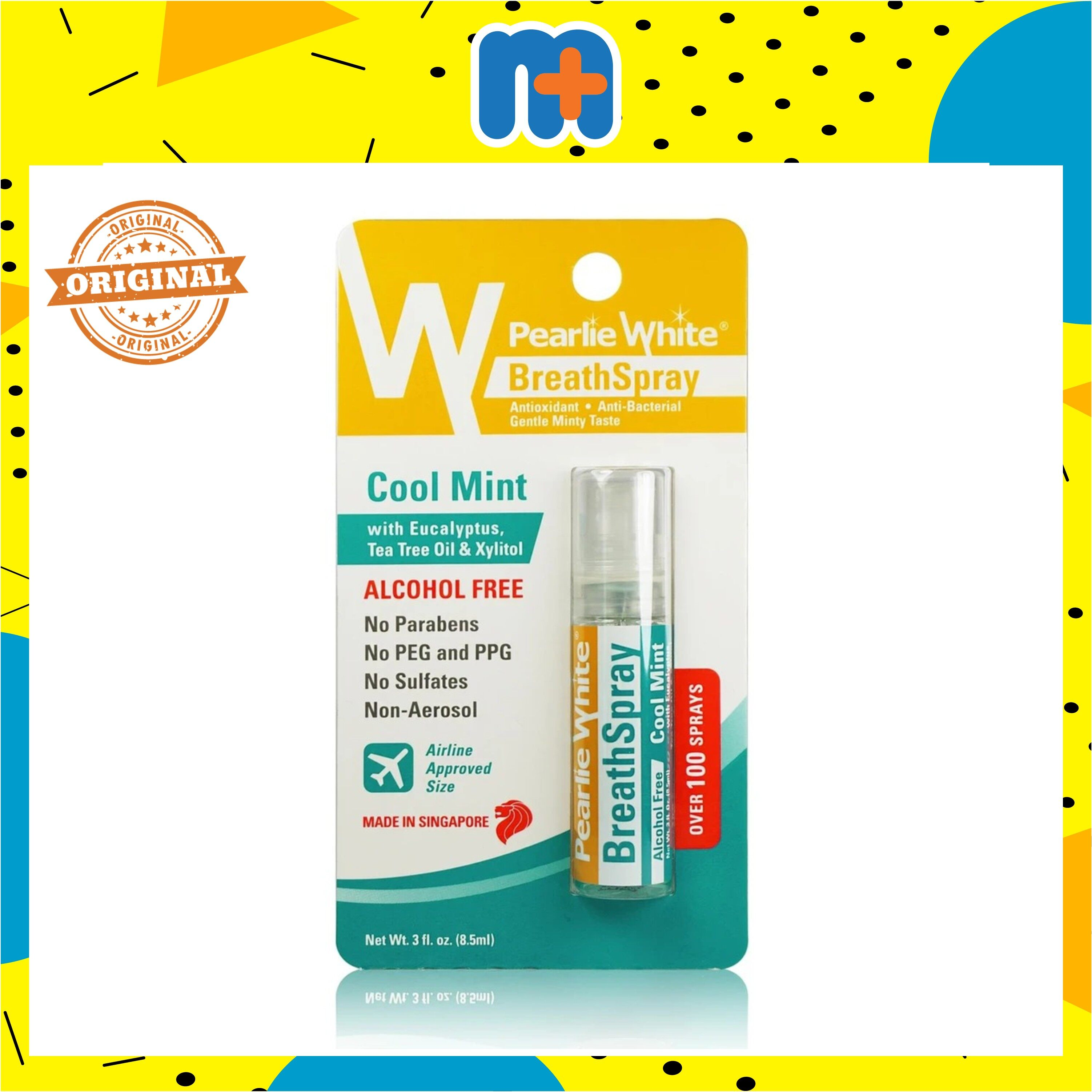 PEARLIE WHITE BREATHSPRAY COOL MINT (ALCOHOL FREE) 8.5ML