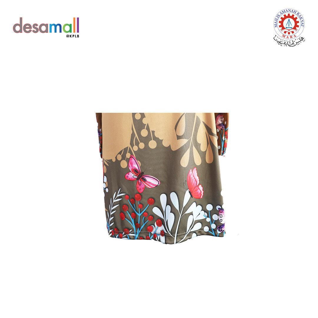 AYRA MYSHA Baju Muslimah Butterfly Flower Edition - XL