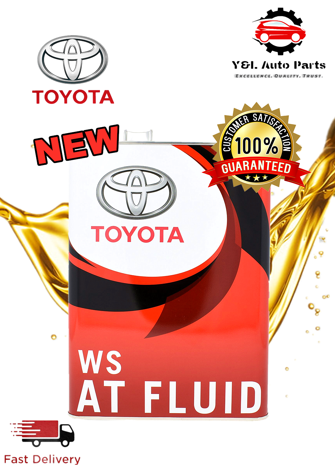 TOYOTA WS AUTOMATIC ATF GEAR OIL WS 4LITRE 08886-02305