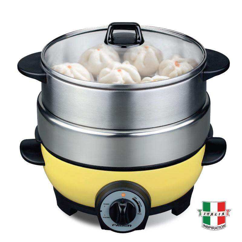 FABER Multi Cooker FMC FORNELLO 400 YW for Steaming / Steamboat / Soup, Bbq Grill And Stir Fry Stainless Steel Steamer Fast Warm Up