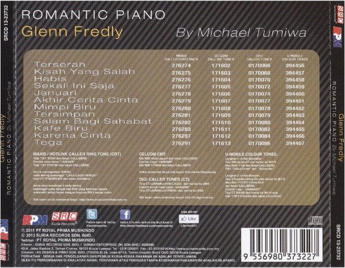 Glenn Fredly Romantic Piano By Michael Tumiwa Instrumental Music CD