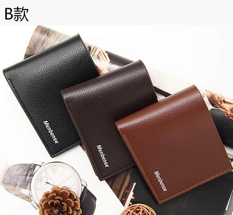 [M'sia Warehouse Direct] 2020 Korean Series Men's Leather Wallet Bi-Fold Fengshui Wallet Euro Italy Designer Best Gift Clutch Card Coins Cash Slot With Zip Portable Hand Carry Bag Luxury Top Material Genuine Leather Halal Dompet Kulit