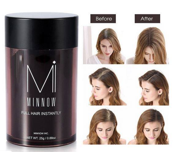 Minnow 3 Colors Thickening Unisex Concealer Hair Care Products Hairloss Baldness Extensions Minnow Hair Building Fibers