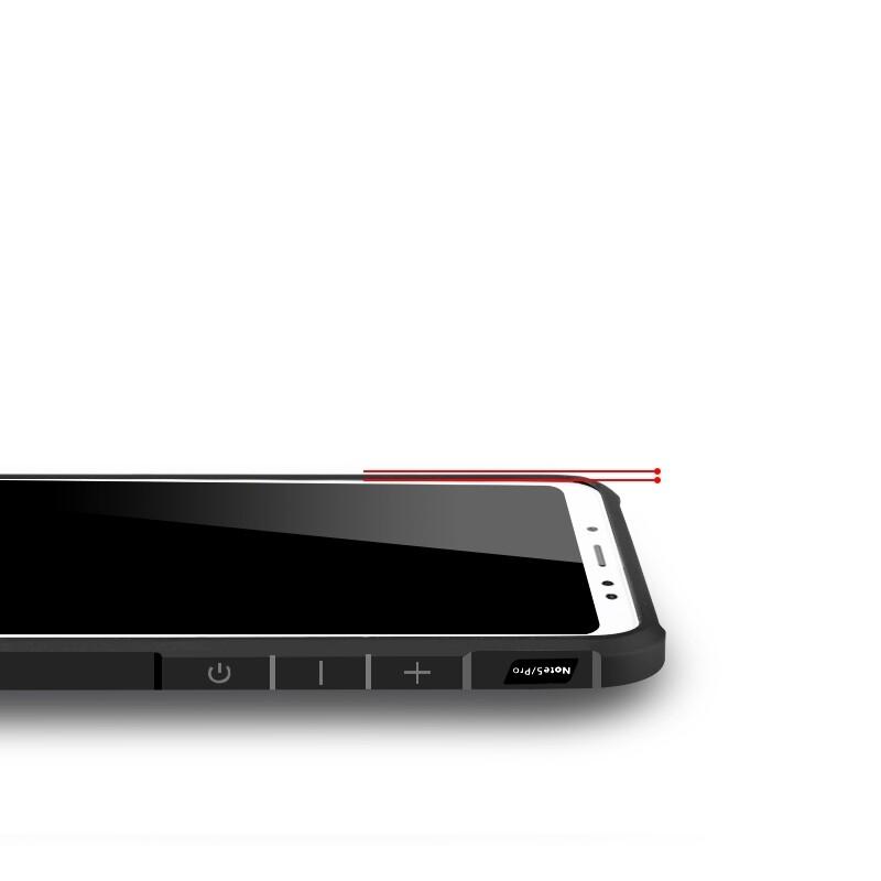 iPh Soft Cover - Soft Silicone Protective Case For Xiaomi Redmi Note 6 Pro - BLUE / BLACK