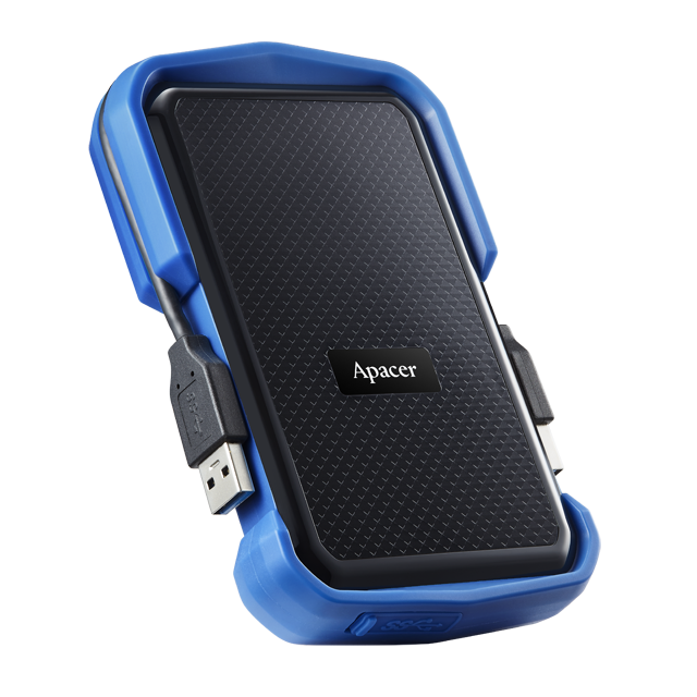 Apacer AC630 / AC631 1TB with Military Grade Shockproof, USB 3.2 Connection, IP55 Dustproof and Water Resistant, Plug and Play