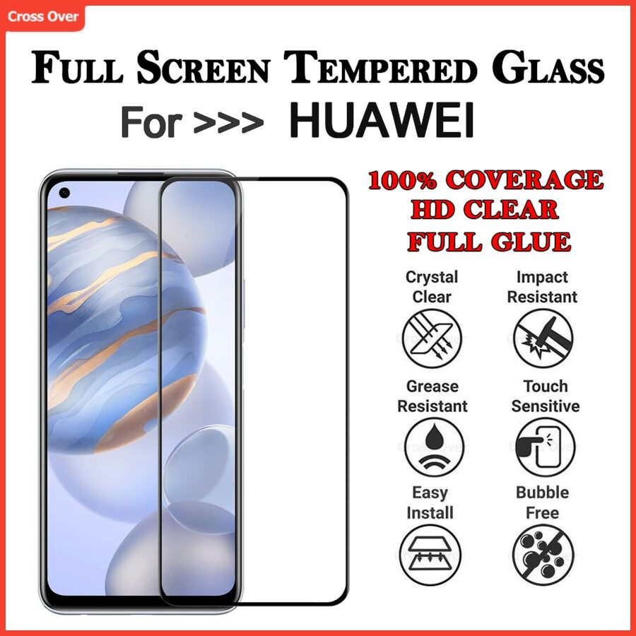 Huawei Nova 7 7i 7SE 5T 5i 4E 4 4i 3 3E 3i 2 2i 2lite Full Screen Protector Tempered Glass HD Clear