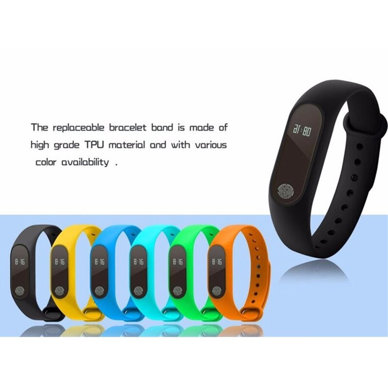 M2 Smart Watch Wristband OLED Touch Screen BLUETOOTH 4.0 Bracelet Fitness Tracker Heart Rate Sleep - BLACK / YELLOW / MINT GREEN / DARK BLUE / WHITE / RED / PINK / GREY / GREEN / PURPLE / ORANGE / BLUE
