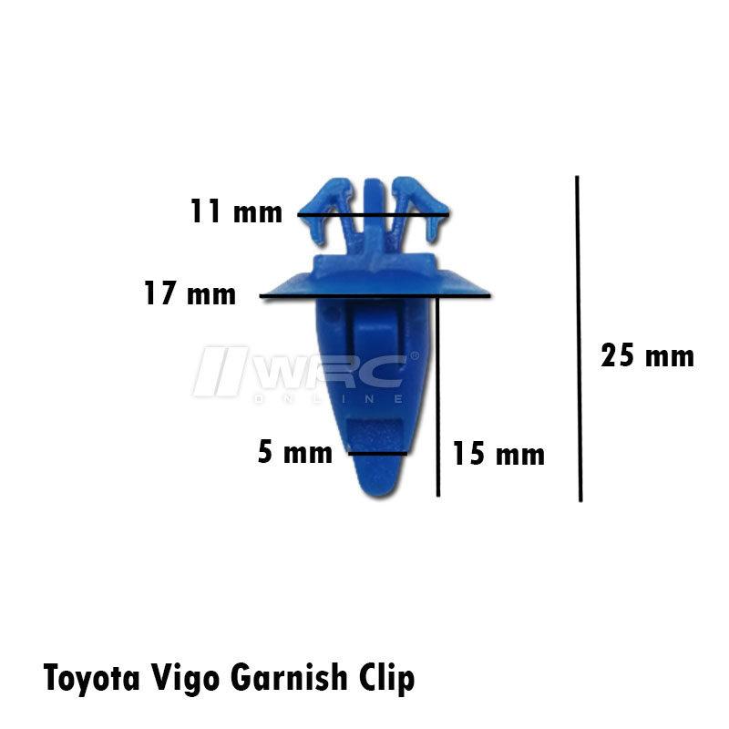 Toyota Hilux Vigo Garnish Clip (Blue) (1pc)