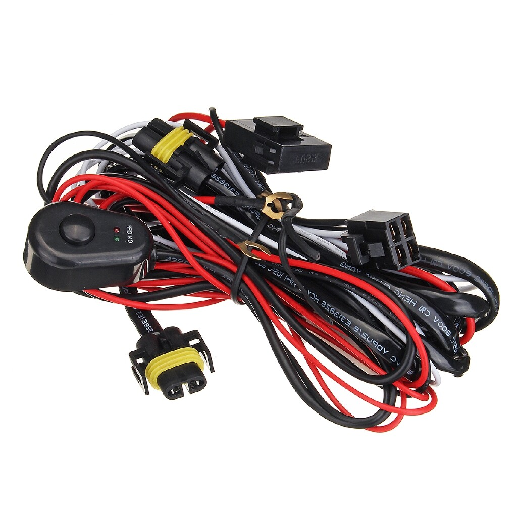 Car Lights - H11 Fog Light Wiring Harness Sockets Wire Kits For Ford Focus Acura Nissan Honda - Replacement Parts