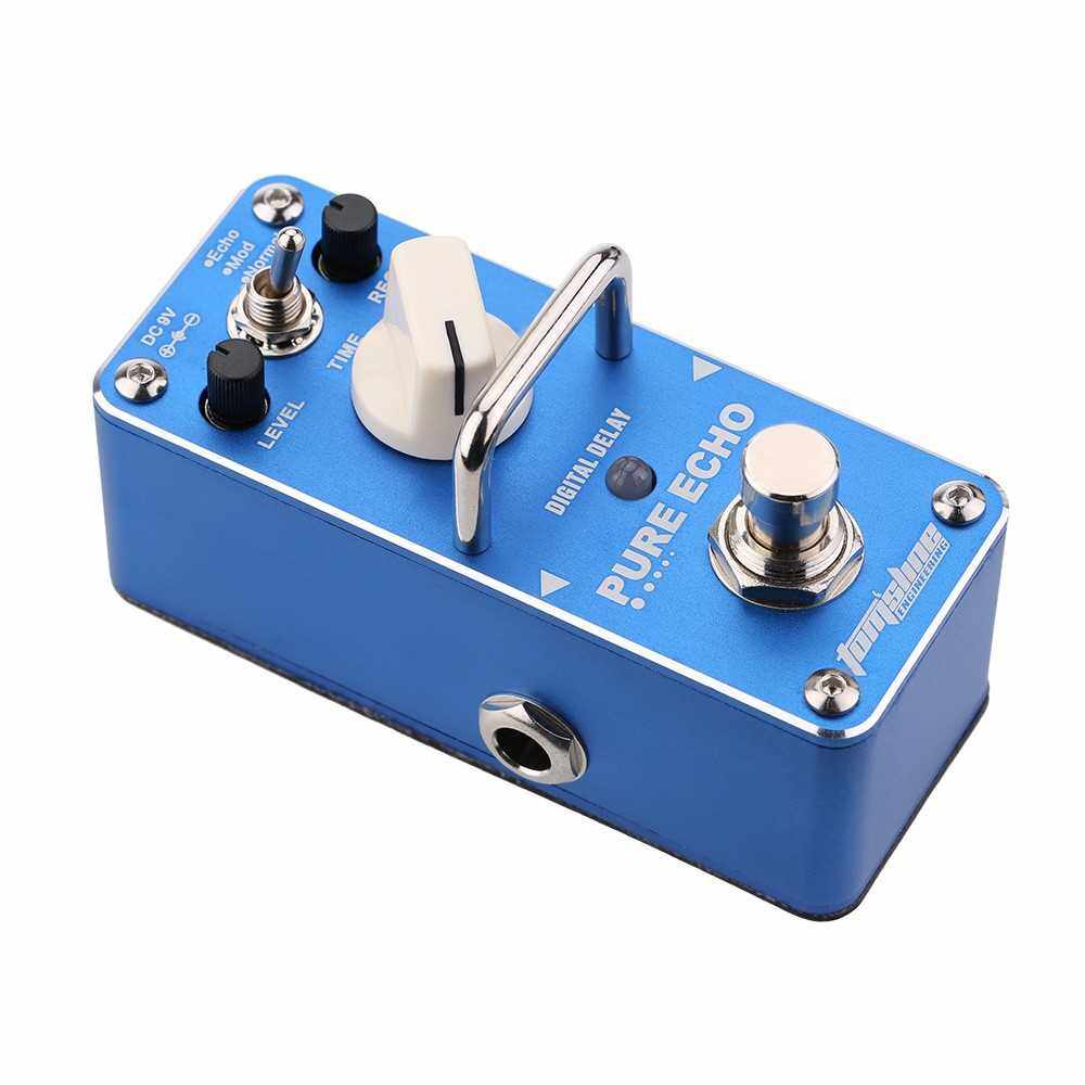 AROMA APE-3 Pure Echo Digital Delay Electric Guitar Effect Pedal Mini Single Effect with True Bypass (Blue)