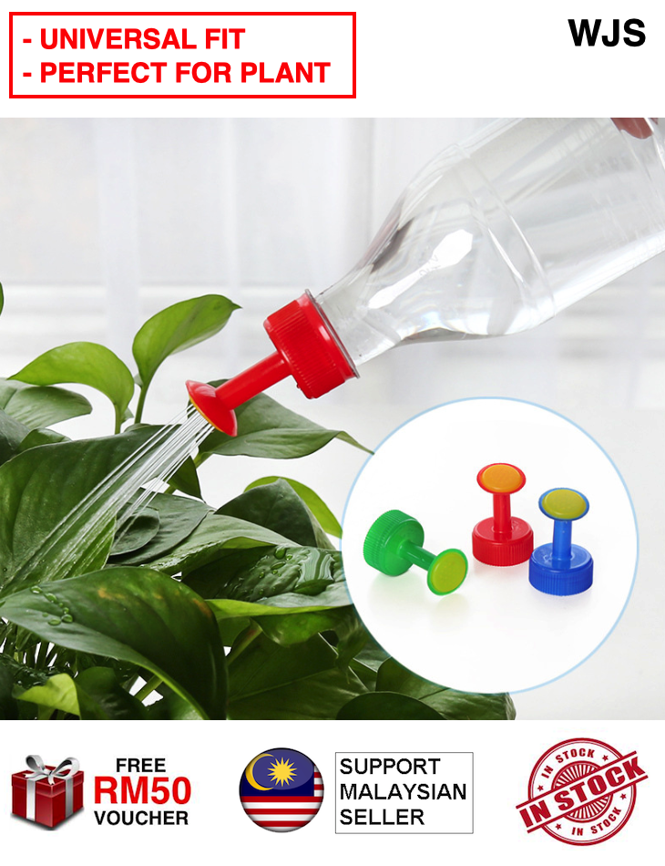 (PERFECT AMOUNT FOR PLANT) WJS 2pcs 2 pcs Sprinkler Water Bottle Cap Sprinkler Gardening Watering Plant Flower Water Bottle Sprinkle Water Dispenser MULTICOLOR RED GREEN BLUE [FREE RM 50 VOUCHER]