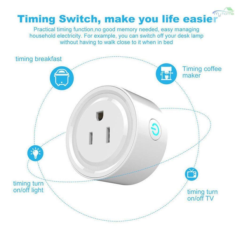 Plugs & Adapters - PORTABLE Intelligent Automatic MINI Socket Wifi Plug Wi-Fi Enabled App Remote Control WIRELESS - #
