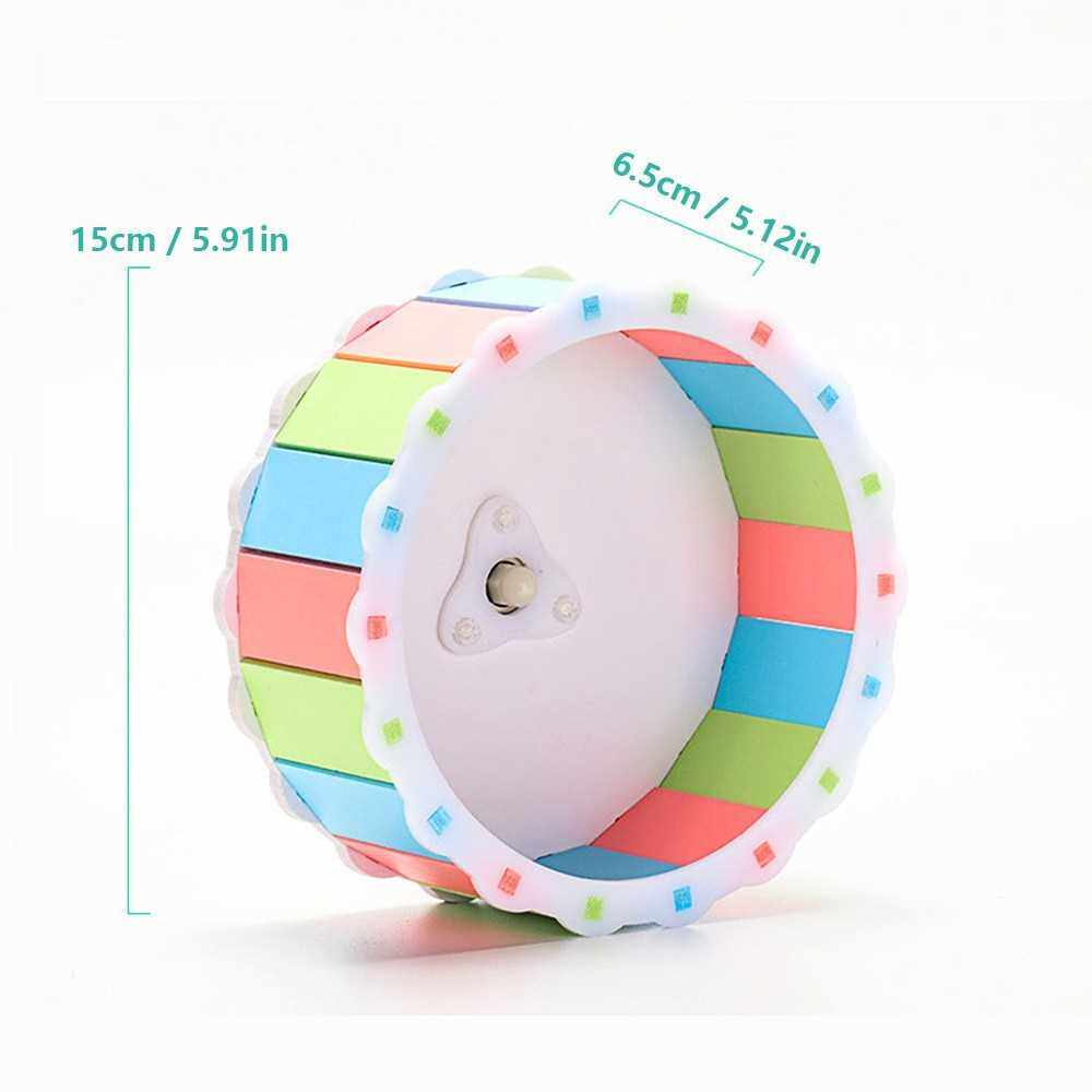 Silent Hamster Exercise Wheel Mount into Cage Running Wheel Toy Anti-Slip for Dwarf Hamsters and Similiar Small Pets Animals (Wheel Size 5.9in Diameter, 2.5in Width) (Multicolor)