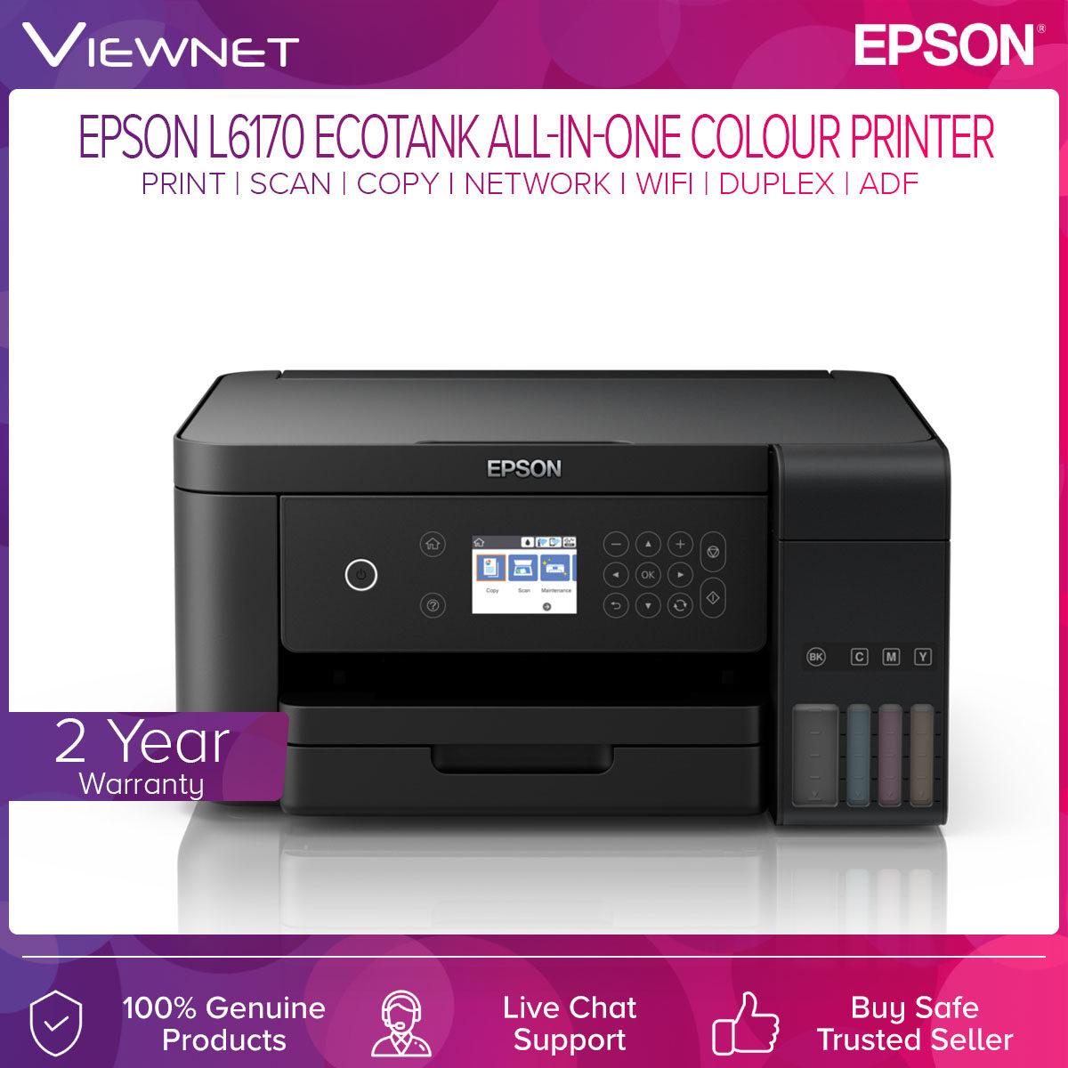 Epson EcoTank L6170 All-In-One Ink Tank Colour (Print/Scan/Copy/Network/Wi-Fi/Duplex/ADF) Printer