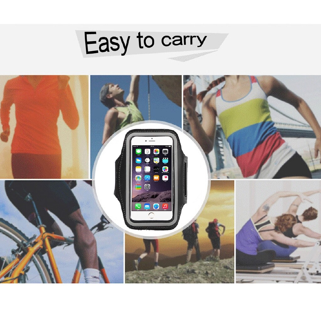 iPh Soft Cover - Sport Arm Band Running Jogging Gym Armband Pouch Bag Case For iPh X 8 7 6 6S - ROSE RED / GRAY GREEN / GREY / BLACK / BLUE ROSE